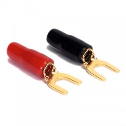 DAYTON AUDIO Spade Plug Gold Plated Or Ø 4.5mm (Set x4)