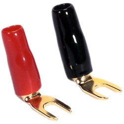 DAYTON AUDIO Spade Plug Gold Plated Ø 3.5mm (Set x4)
