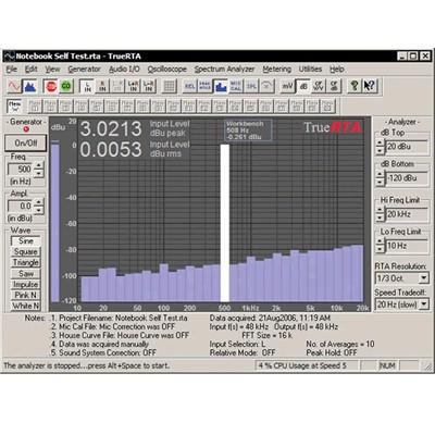 TrueRTA Audio Level 2 Version 3 Measurement Software