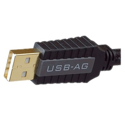 Pangea USB-AG Câble USB-A Male/USB-B Male 2.0 Plaqué Or 24k 1.5m