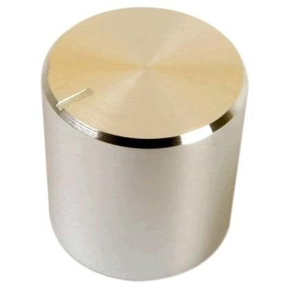 Knob Aluminium Notched Shaft 17×17mm Ø6mm Silver