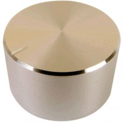 Knob Aluminum Notched Shaft 30×17mm Ø6mm Silver
