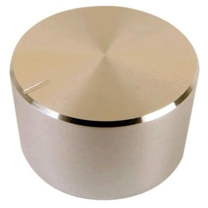 Bouton aluminium 30×17mm Silver pour Axe cranté Ø6mm