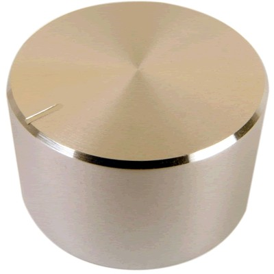 Knob Aluminum Notched Shaft 30×17mm Ø6mm Silver
