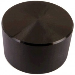 Knob Aluminum Notched Shaft 30×17mm Ø6mm Black
