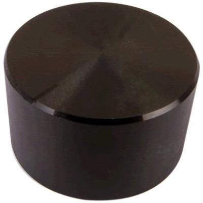 Bouton aluminium 30×17mm Black pour Axe cranté Ø6mm