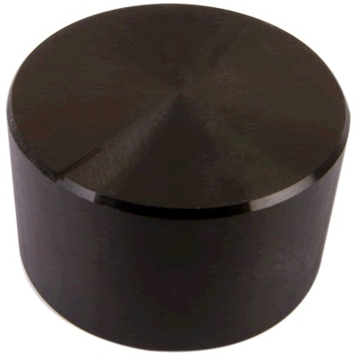 Bouton Aluminium Axe Cranté 30×17mm Ø6mm Noir