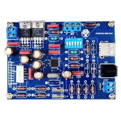 AMC DAC PCM2706 Interface digitale USB -16/48khz Coax/Opt/I2s