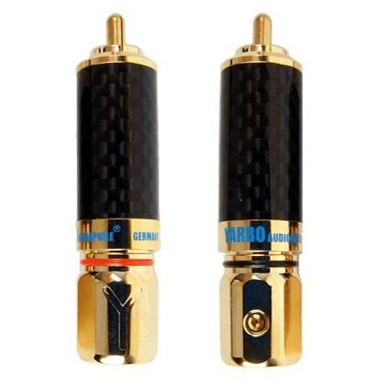Yarbo 018GCF Connecteurs RCA vérrouillables (la paire) Ø 9.5mm