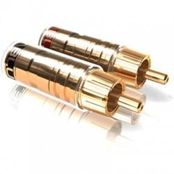 VIABLUE TS Connecteurs RCA plaqué Or Ø8mm (Set x4)