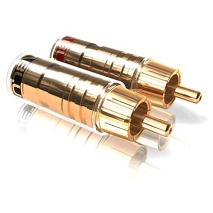 Viablue TS Connecteurs RCA plaqué Or (set x4) Ø 8 mm