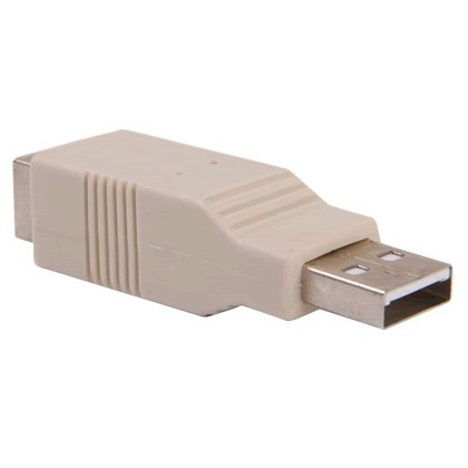 Adaptateur USB A Male vers USB B Femelle