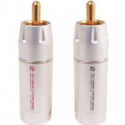 Elecaudio TE-RC9W RCA Cuivre Tellurium PTFE (la Paire) Ø8.5mm