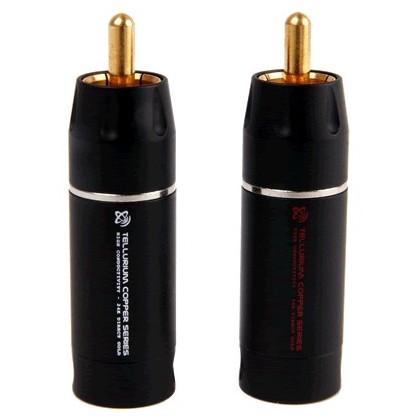 Elecaudio TE-RC9B RCA Cuivre Tellurium PTFE (la Paire ) Ø8.5mm