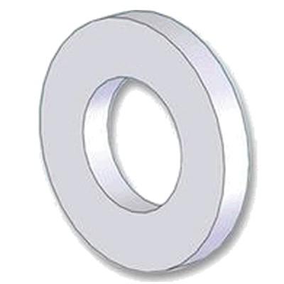 Rondelle Plate Nylon M8 x 2mm (x10)