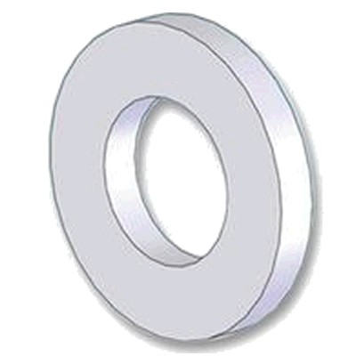 Rondelle Plate Nylon M8x2mm (x10)