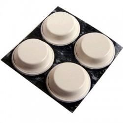 3M BUMPON Pieds Polyuréthane 13x3.5mm Blanc (Set x4)