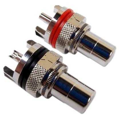 Yarbo RCA7-MSR Embases RCA plaquées Rhodium (la paire)