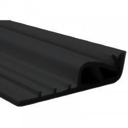 Profilé de Fixation pour Tissu Mural Tendu Noir 1m