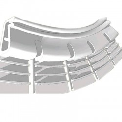 Flexible Fixing Profiles for Stretched Wall Fabric 1.05m White