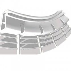 Profilés de fixation flexible pour tissu mural tendu (blanc)1.05m