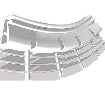 Profilé de Fixation Flexible pour Tissu Mural Tendu 1.05m Blanc