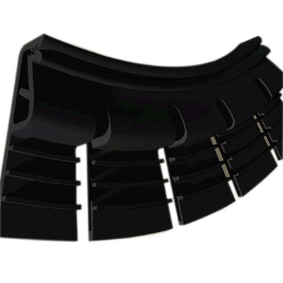 Flexible Fixing Profiles for Stretch Wall Fabric 1.05m Black