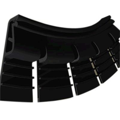Profilés de fixation flexible pour tissu mural tendu (Noir) 1.05m