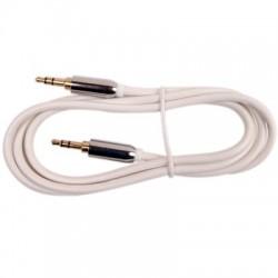 Câble d'interconnexion JACK 3,5 Mâle - JACK 3,5 Mâle Blanc 1.80m