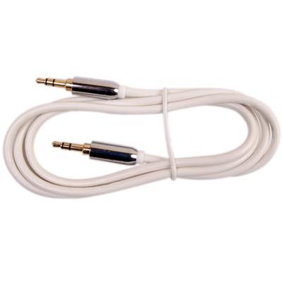 Câble d'interconnexion JACK 3,5 Mâle - JACK 3,5 Mâle Blanc 1.8m