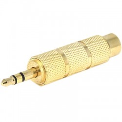Adaptator Jack male 3.5mm to Jack 6.35mm female Gold Plated