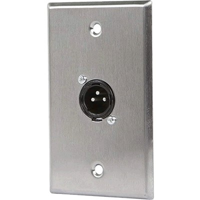 XLR Male 3 Pin One Port Zinc Alloy Wall Plate