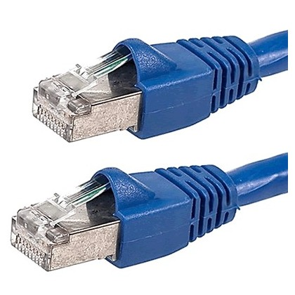 Câble patch Réseau RJ45 Catégorie 6A contacts plaqués Or 2.1m