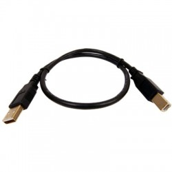 USB Male-Male Cable / USB-B Male 2.0 Connectors Gold-Plated 0.45m Black