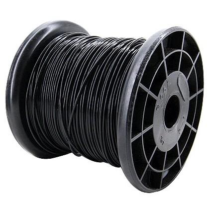 JANTZEN Audio HEW-PTFE Fil de Câblage Cuivre/Argent 1.3mm²(Noir)