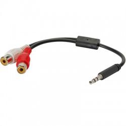 Câble de Modulation Jack 3.5mm - 2 RCA Stéréo Femelle 0.2m
