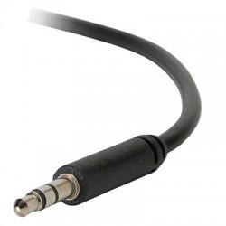 Câble Droit mini JACK 3,5 Mâle - Mini JACK 3,5 Mâle Noir 0.3m