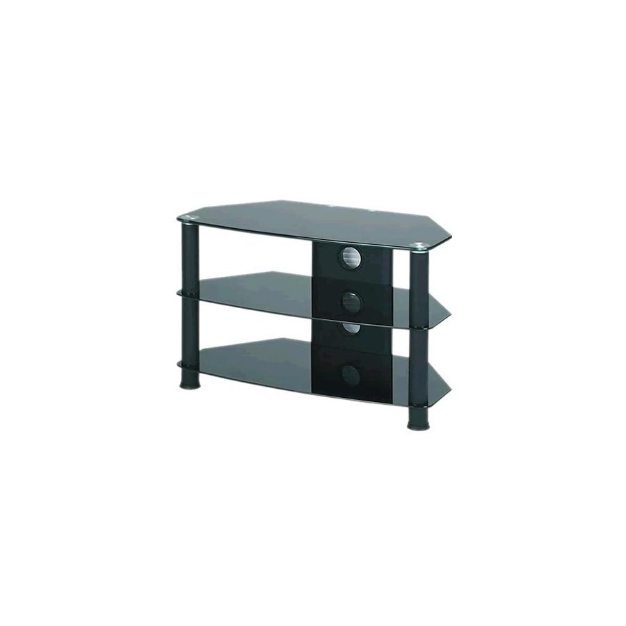j003bb meuble hifi support tv verre et aluminium black 0. Black Bedroom Furniture Sets. Home Design Ideas
