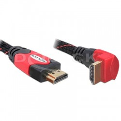 DELOCK Câble HDMI 1.4 High speed Ethernet Coudé Angle droit 2.0m