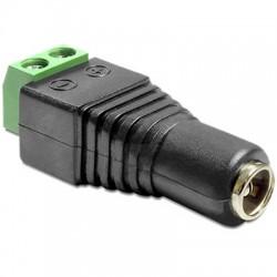 DELOCK Connecteur d'alimentation femelle Jack DC 5.5 / 2.1mm