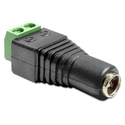 DELOCK Connecteur d'alimentation femelle Jack DC 5.5/2.1 mm