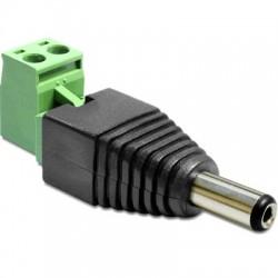 DELOCK Connecteur d'alimentation Mâle Jack DC 5.5 / 2.1 mm