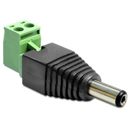 DELOCK Connecteur d'alimentation Mâle Jack DC 5.5/2.1 mm
