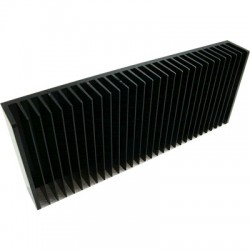Anodised heat sink heater Black 200x80x40