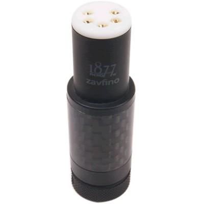 1877PHONO CB-1 Carbon Connecteur DIN Femelle 5 Broches Plaquée Or 24K