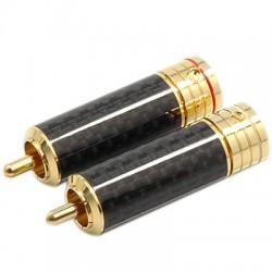 W&M Audio CS-306G Connecteurs RCA verrouillables Isolés PTFE Ø 9.3mm (La paire)