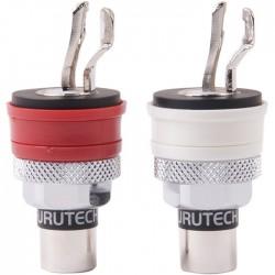 FURUTECH FP-901 (R) Embases RCA Cuivre pur plaqué Rhodium (La paire)