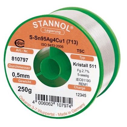 Stannol Crystal 511 soudure à l'étain 250 g