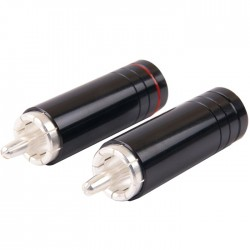 W&M Audio CS-1033S Connecteurs RCA Plaqué Argent Ø 8mm (La paire)