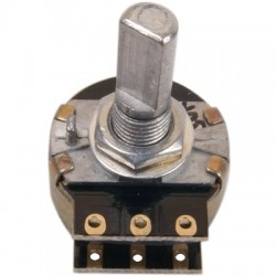 Potentiometer switched Stereo anti pop - Resistors 1% SMD 10k Flat axis LOG